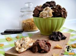 Croccantini di corn flakes e cioccolato