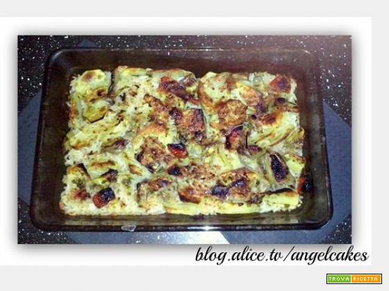 Teglia di patate riso e carciofi