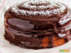 torta al dulche de leche con marmellata di banane al rum e cacao