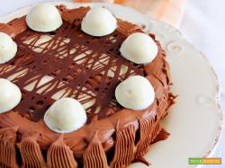 torta con namelaka al fondente e fava tonka e al cioccolato bianco e arancia