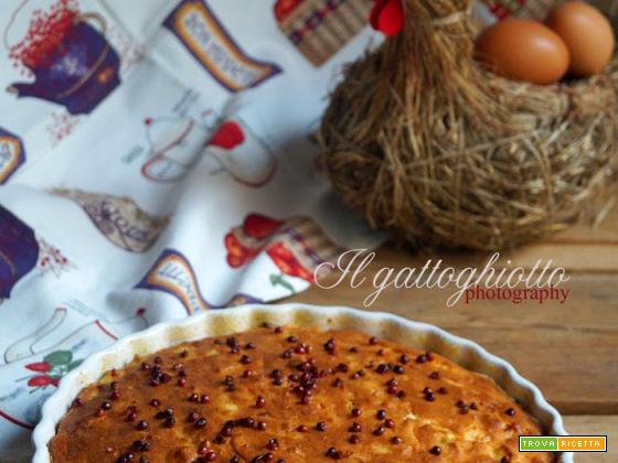 Torta salata con farina di mais, cipollotto e salmone affumicato (gluten free)