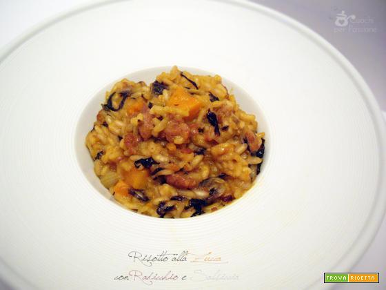 Risotto alla Zucca con Radicchio e Salsiccia