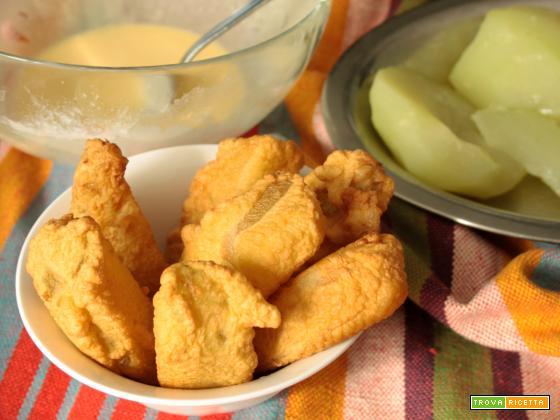 Chayote fritto (chuchu frito)