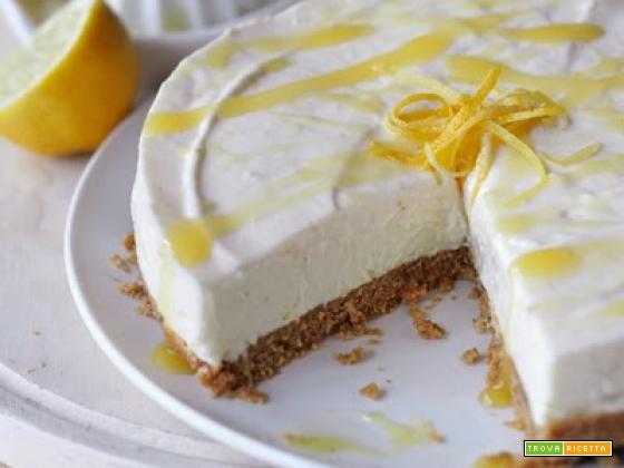 Torta di formaggio al limone. Un delizia soffice ed irresistibile