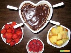 Hai mai provato la fonduta di cioccolata con il panettone?