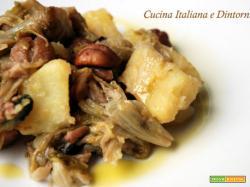 Insalata tiepida di scarola, patate e castagne