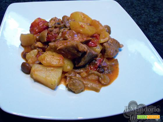Spezzatino ai funghi e patate