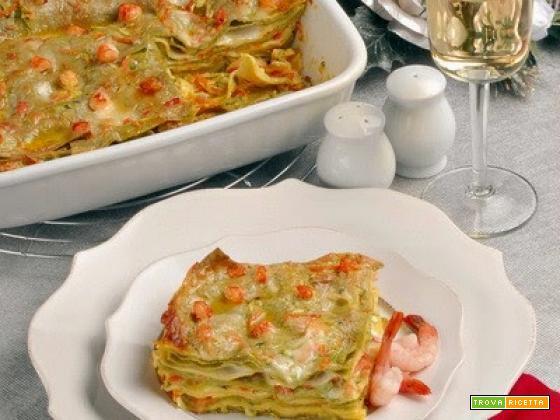 Lasagne light con gamberetti