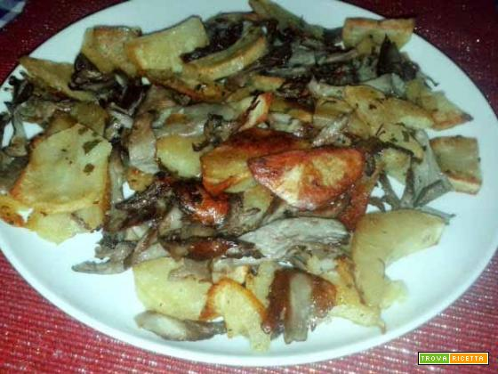 Patate e funghi Pleurotus al forno