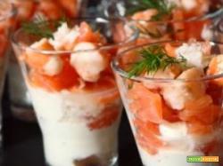 Bicchierini di salmone: un antipasto perfetto per Natale e non solo
