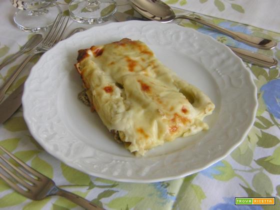 Cannelloni con ricotta e carciofi