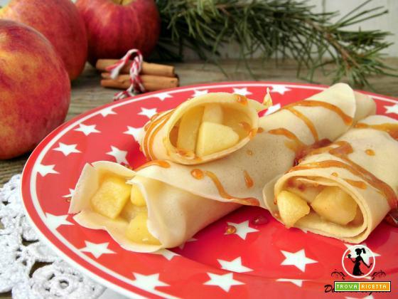 Crepes alle mele e cannella