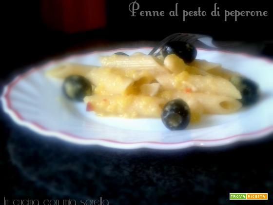 Penne al pesto di peperone