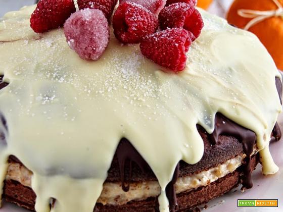 idee per natale, torta torronata