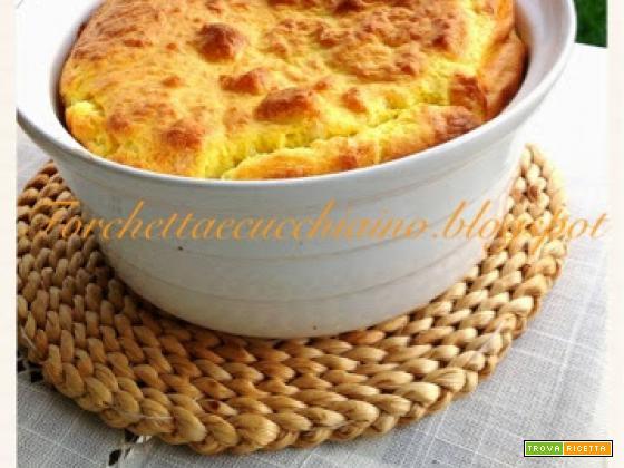 Souffle' ai formaggi, curcuma e pepe nero