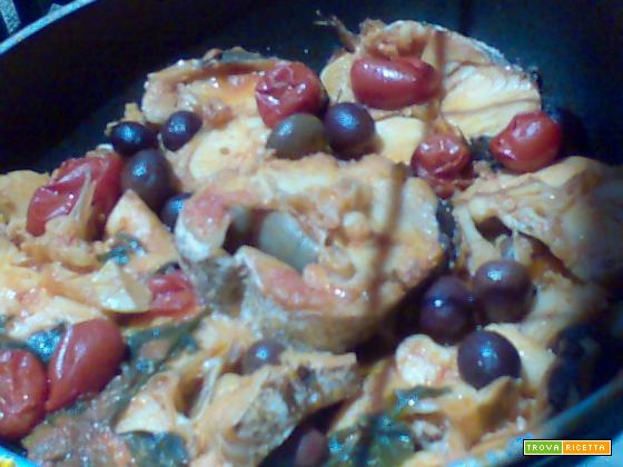 pesce spada olive pomodorini