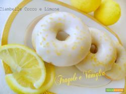 Ciambelle cocco e limone