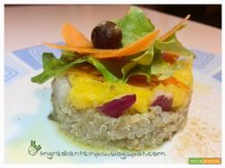 Insalata di quinoa con mango e zenzero