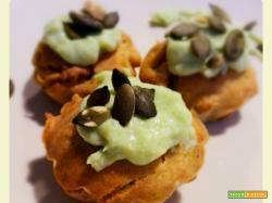 Muffins salati con broccolo romanesco e yogurt