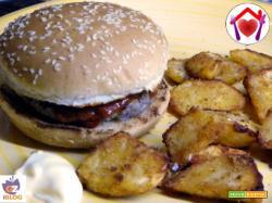 Hamburger di manzo e maiale