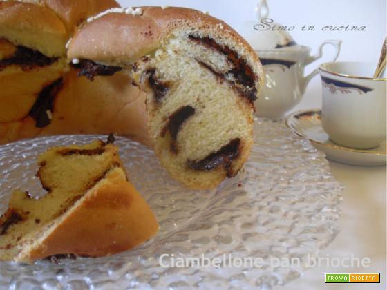 Ciambellone pan brioche alla nutella bimby