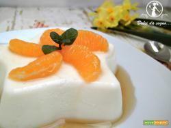 Panna cotta con mandarini caramellati
