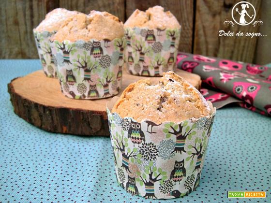 Muffin con albumi e gocce di cioccolato