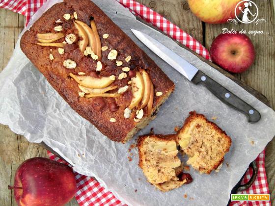 Torta di mele, nocciole e avena