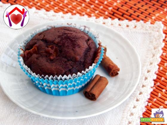 Muffin mela e cioccolato