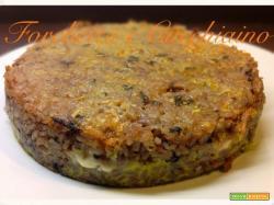 Sformato di riso croccante con cuore filante al gorgonzola