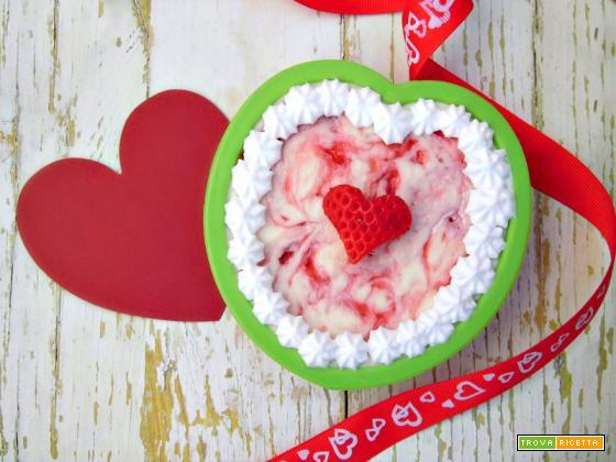 Romantiche mini cheesecake