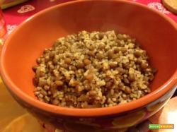 Stufato di bulgur e lenticchie