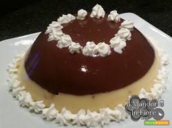 Budino bigusto vaniglia e cioccolato