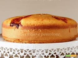torta nua al cocco e marmellata di fragoline