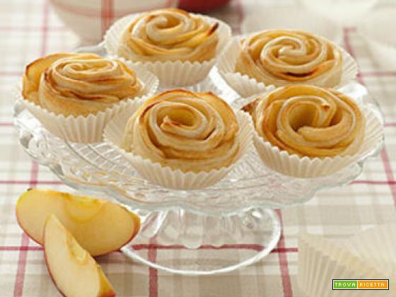 Roselline di mele con pasta sfoglia