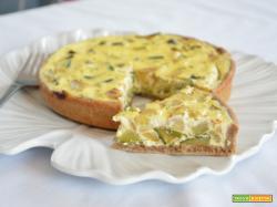 Torta salata ricotta e zucchine con brisè senza burro