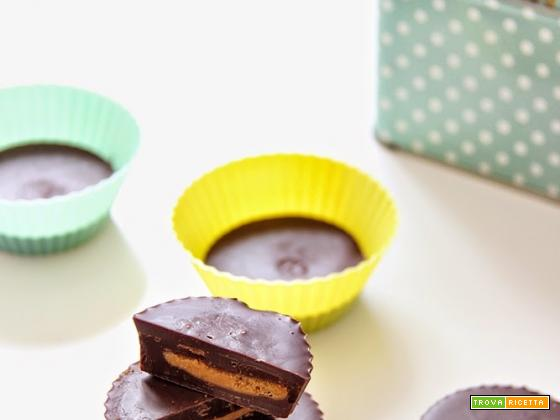 cioccolatini al burro d'arachidi, peanut butter cups