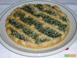Crostata ricotta speck e spinaci