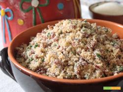 Carne secca con farina di manioca (Paçoca de carne seca)