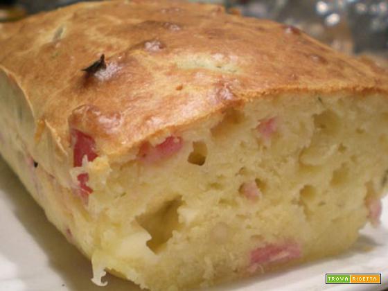 Plumcake salato pancetta e mozzarella – Ricetta