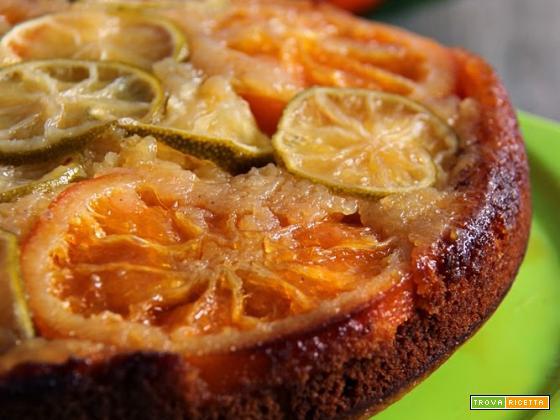 torta rovesciata agli agrumi, winter citrus upside down cake per il Re-cake di marzo