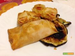 Fagottini di pasta fillo al forno con verdure