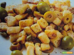 Dadini di pesce spada e olive