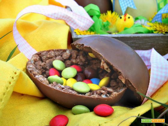 Uova di Pasqua ciocorì e biancorì