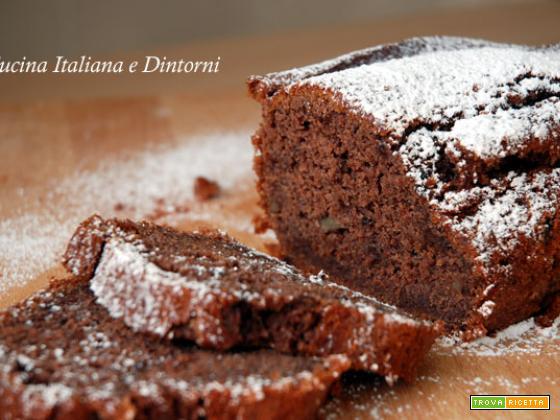 Plumcake alla banana con noci e gocce di cioccolato