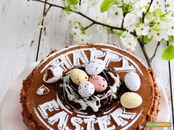 torta al cacao e ganache tartufata, Buona Pasqua!