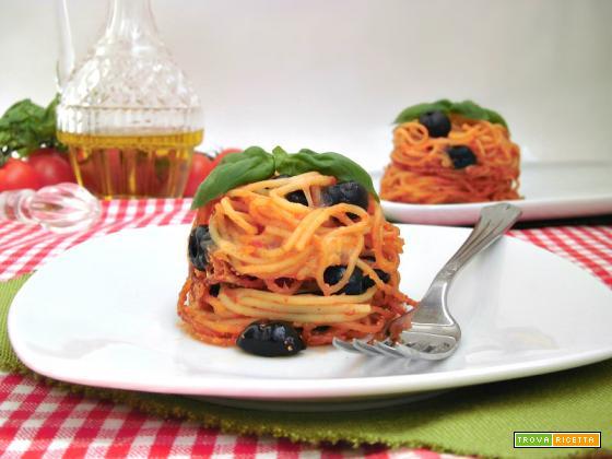 Timballini di spaghetti