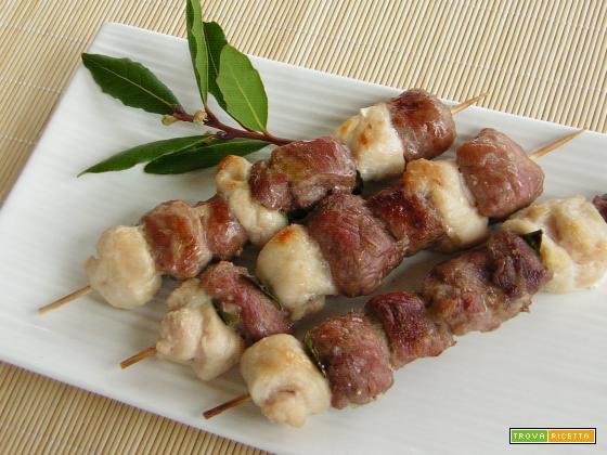 Spiedini di carne al grill
