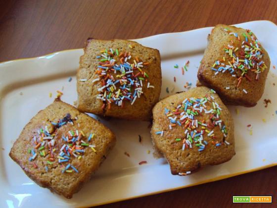 Muffin al farro con gocce di cioccolato
