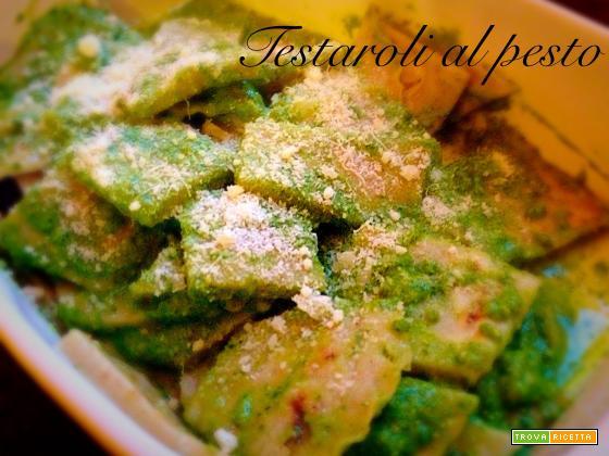 Testaroli al Pesto